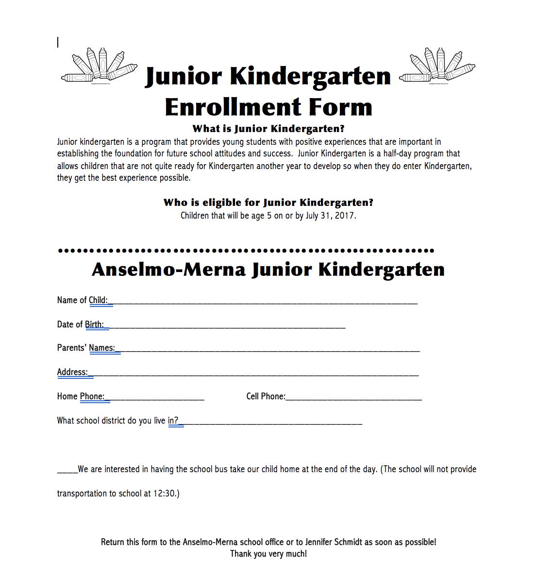 Anselmo-Merna Public School - Pre-School/Junior Kindergarten 2017-18 ...